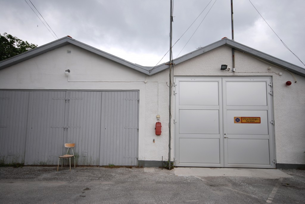 The local fire station at Fårö, Gotland. Sweden is a sparsely populated country, where many people in rural areas spend their working days alone.