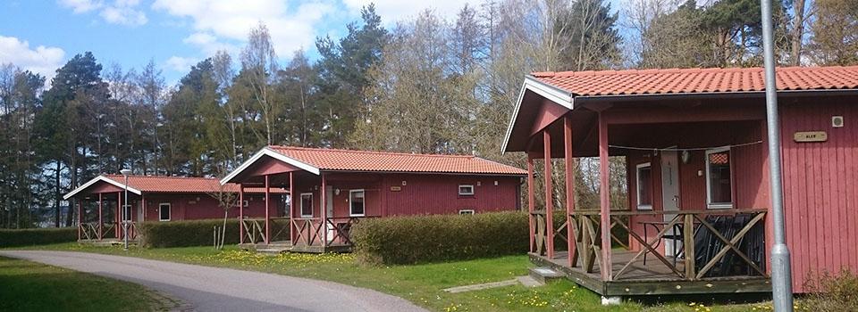 المنازل الريفية الحمراء